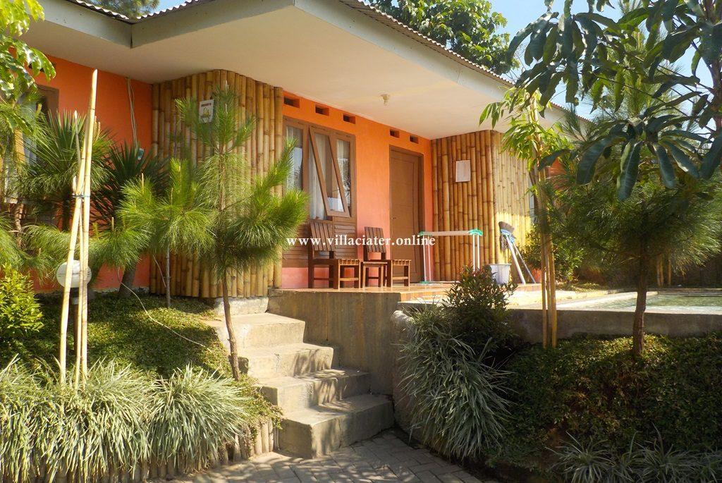 villa di ciater dengan kolam renang air panas pribadi wisata sari ater