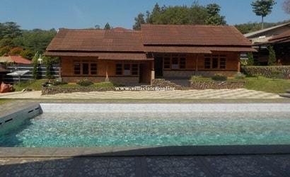 villa di ciater dengan kolam renang air panas pribadi sewa villa penginapan di sari ater